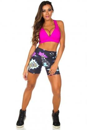 Short Estampado Babe - Garota Fit SH453E01 Garota Fit Fashion Fitness e Praia