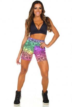 Short Estampado Tell - Garota Fit SH452E04 Garota Fit Fashion Fitness e Praia