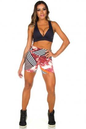 Short Estampado Tell - Garota Fit SH452E05 Garota Fit Fashion Fitness e Praia