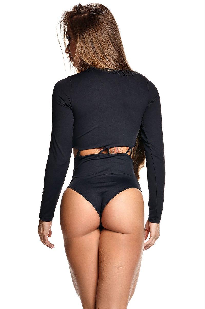 Lets Gym Body com Strappy Fashion Preto B638B
