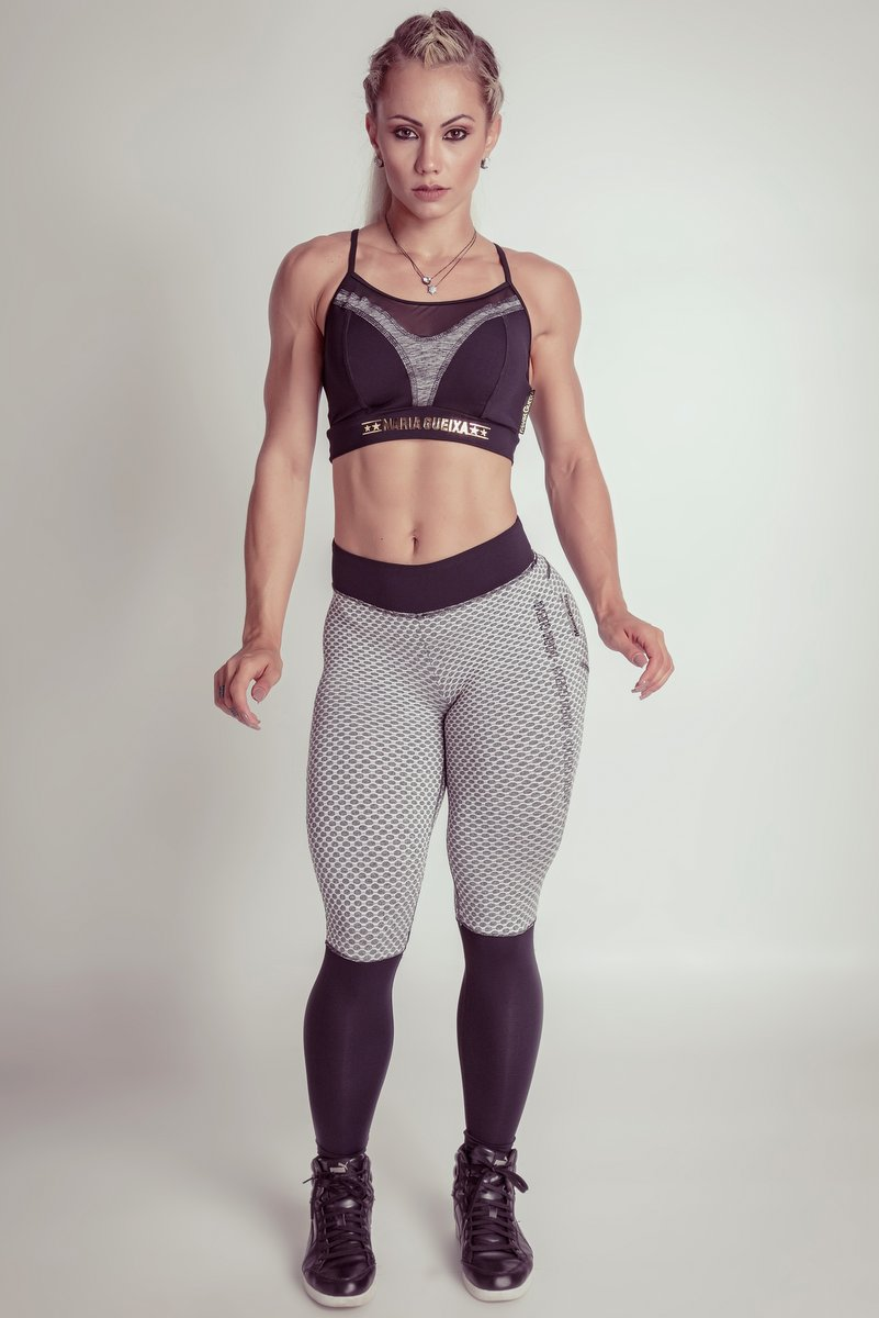 Maria Gueixa Calça Legging Fitness Extreme Mescla 005149