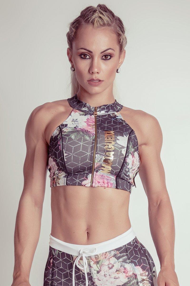 Maria Gueixa Top Fitness Zíper 005103