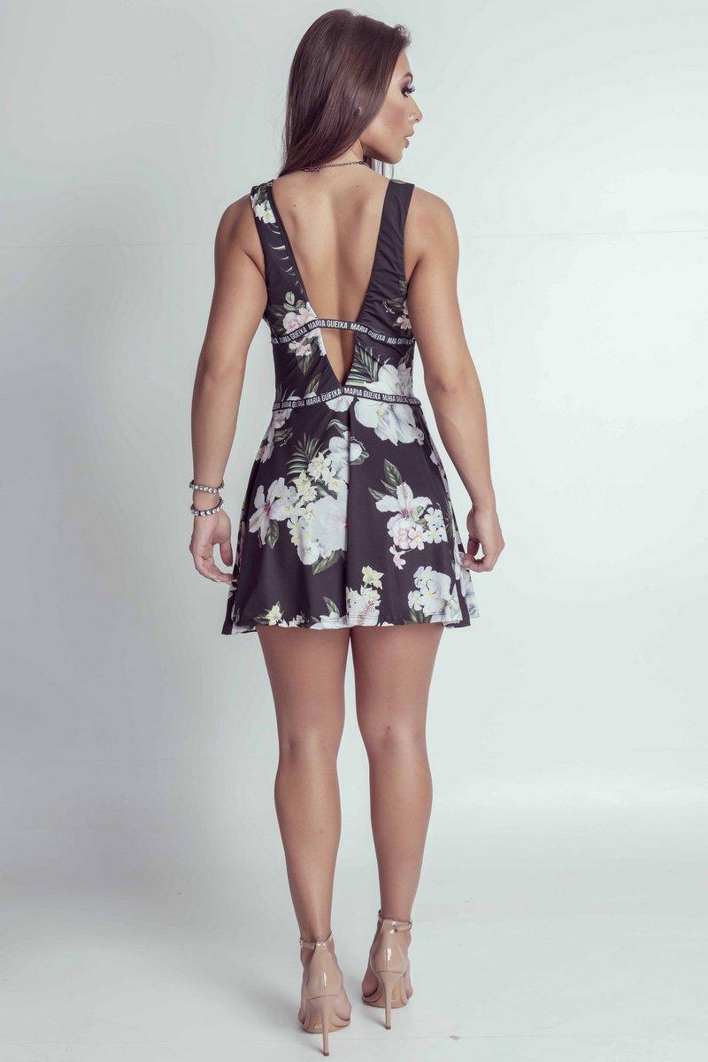 Maria Gueixa Vestido Soltinho Maxi Decote 005368A