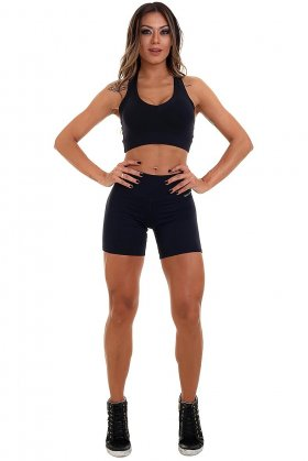 shorts-basic-garota-fit-sh455a Garota Fit Fashion Fitness e Praia