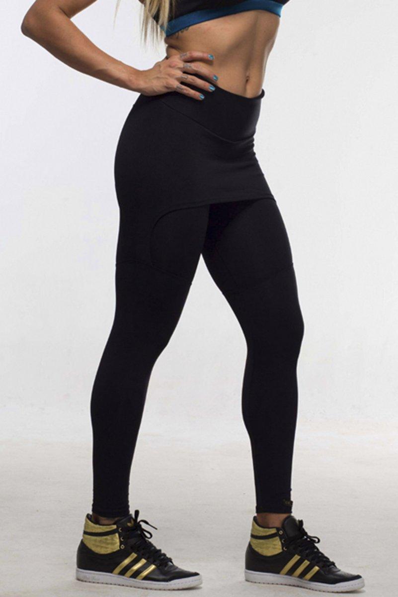 Canoan Pants Legging legging Sainha Preta 11316