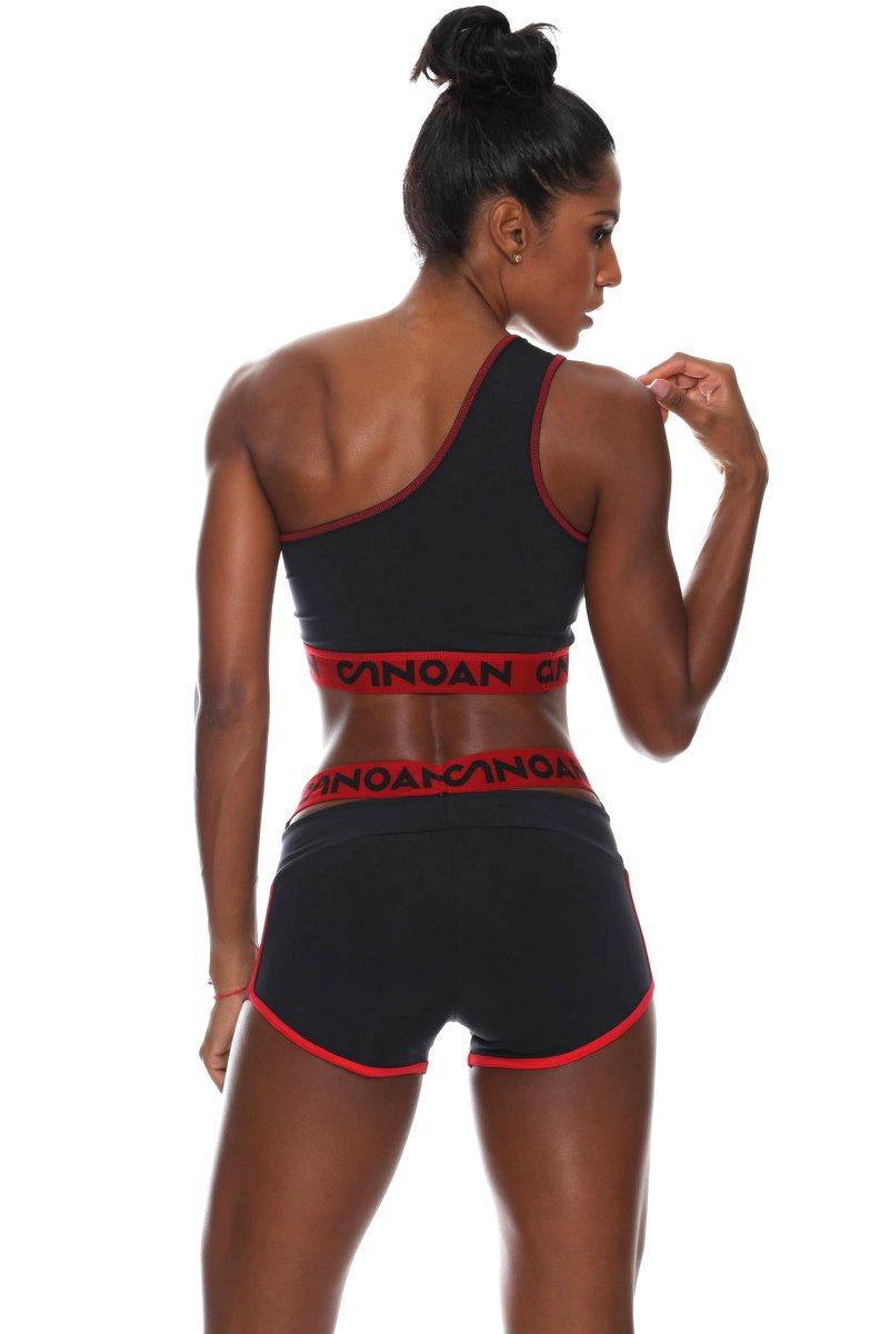 Canoan Shorts Legendary Preto e Vermelho 01166
