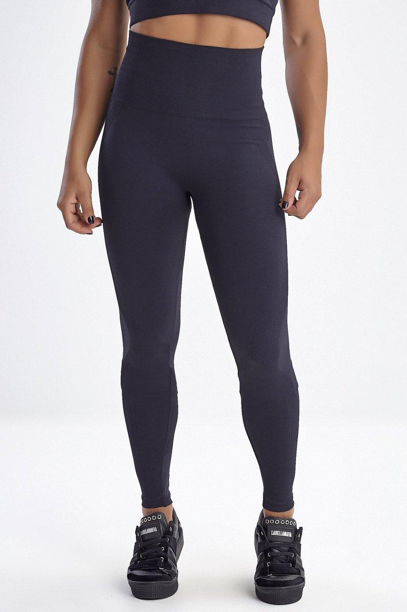 Labellamafia Calça Legging Perfect Shape Preta FCL13493
