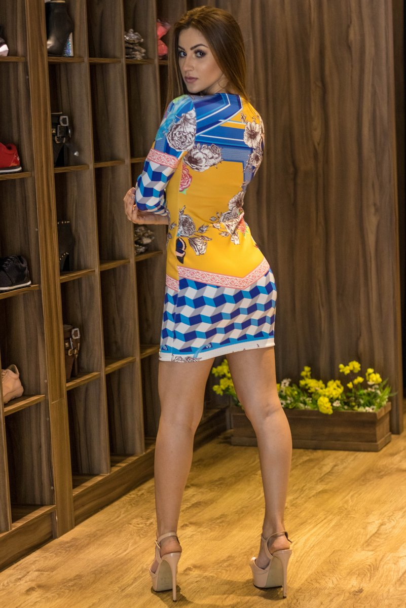 Miss Misses Vestido Tubinho Decote V 30002