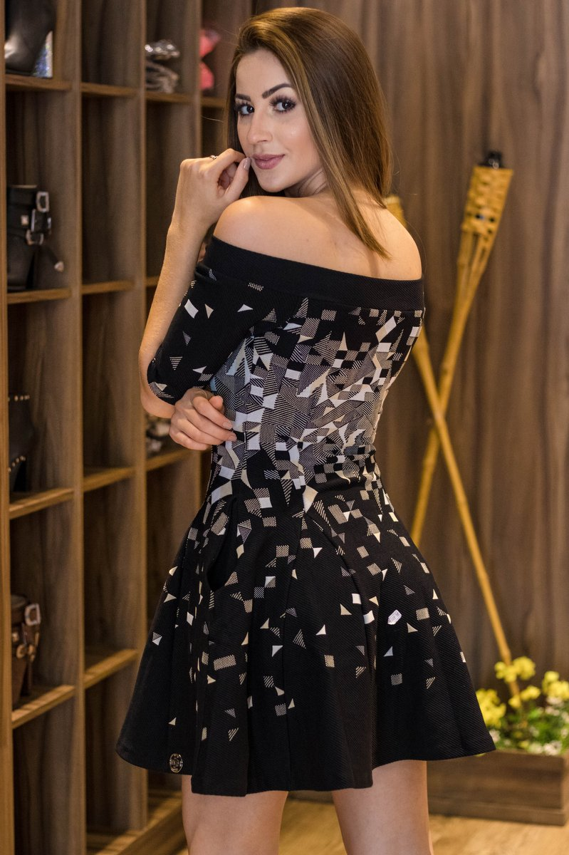 Miss Misses Vestido Jacquard com Zíper  20009