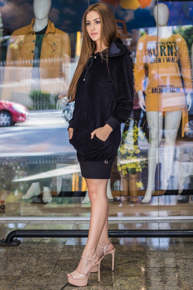 Miss Misses Vestido Liso com Bolso 00110