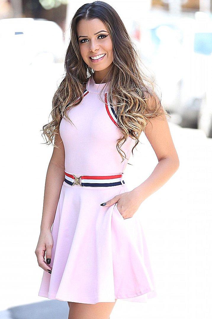 Miss Misses Vestido com Bolso e Cinto 300149B