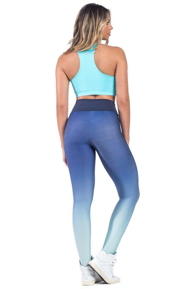 Vestem Calça Legging Fusô Degradê Azul FS538