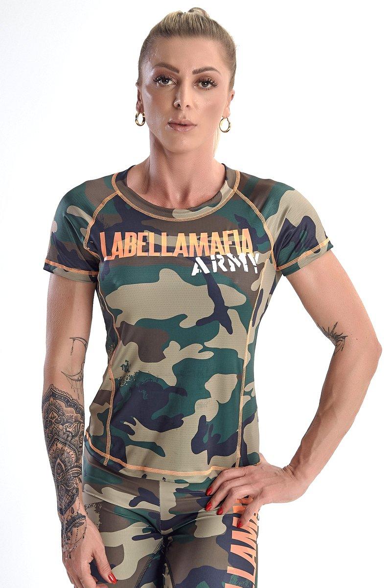 Labellamafia Blusa Labellamafia Army FBL13474