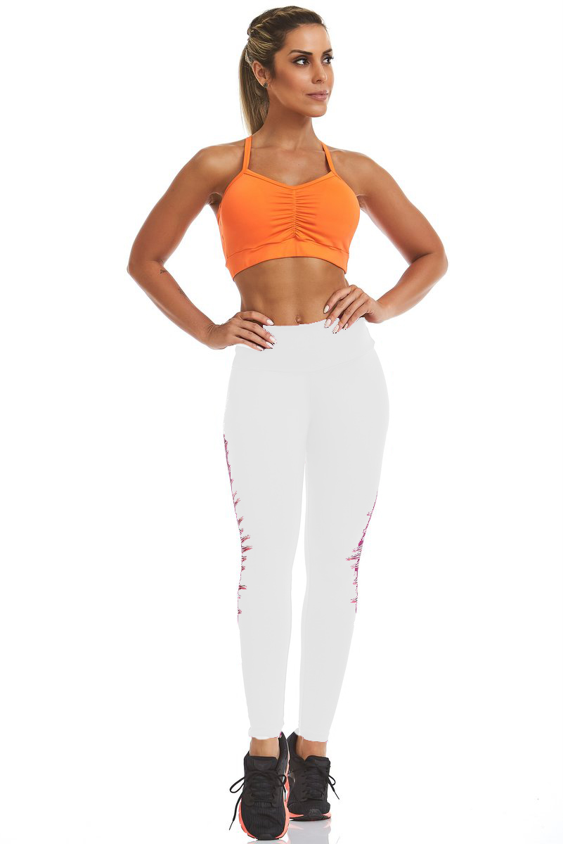 Stayfit Calça Legging Speed Silk Branca SL15F6S100