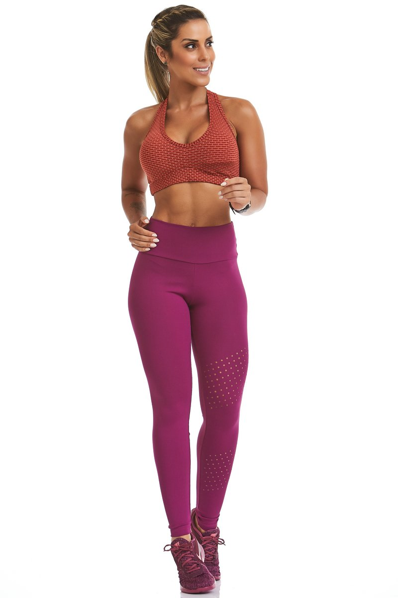 Stayfit Calça Legging New Zealand Force Roxa SL23F6L189