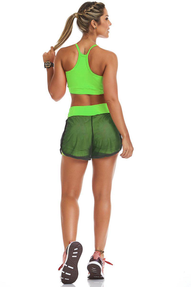 Stayfit Shorts Focus Verde Limão SL06F12165