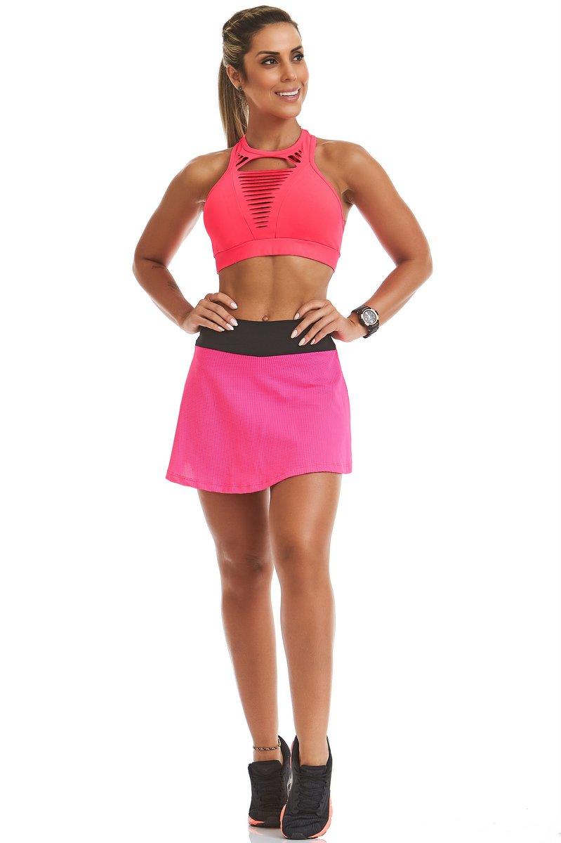 Stayfit Shorts Saia Cool Rosa Neon SL12F11177