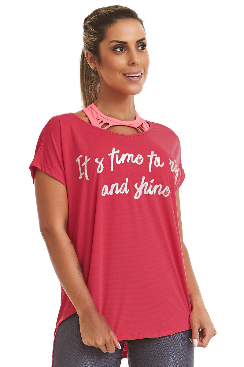Stayfit Blusa Shine Pink SL36F9S172