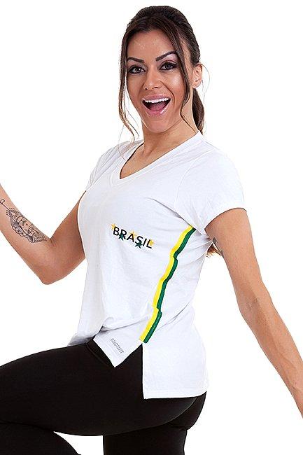 Garota Fit Blusa Brasil BL81A
