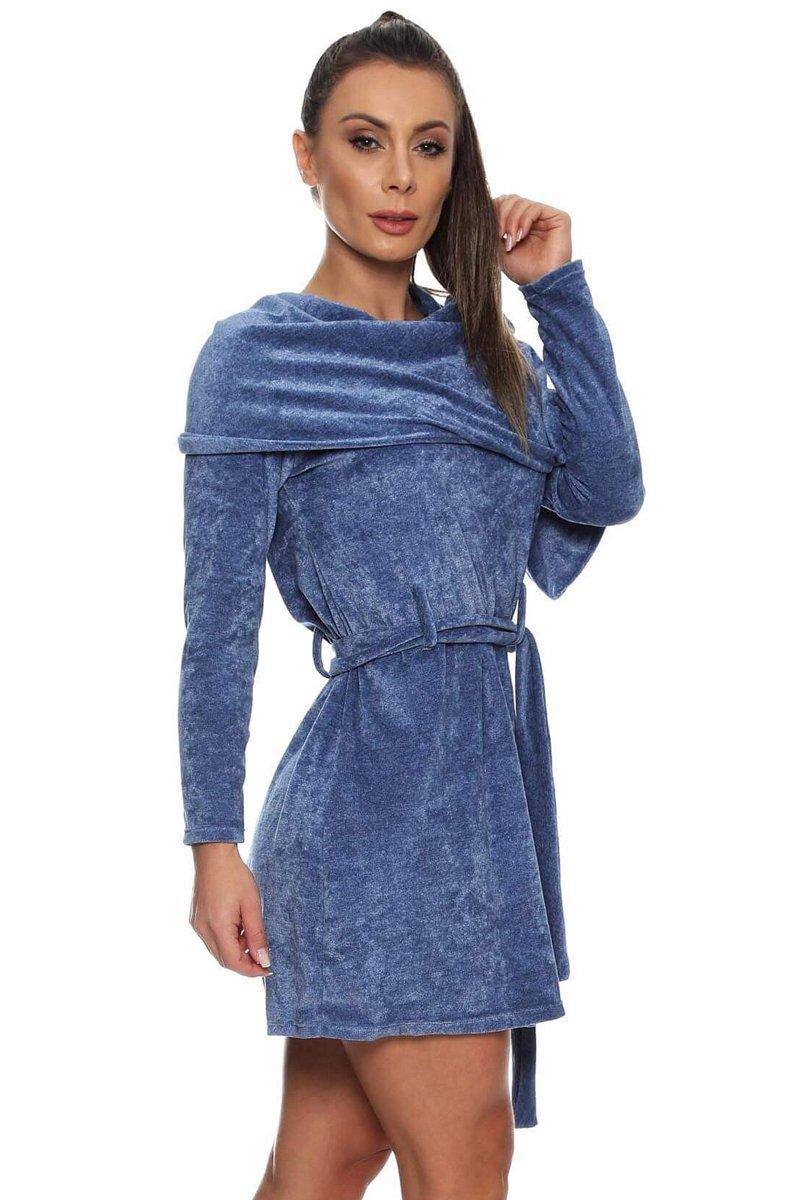 Canoan Vestido Gola Cachecol Bold Azul  14061