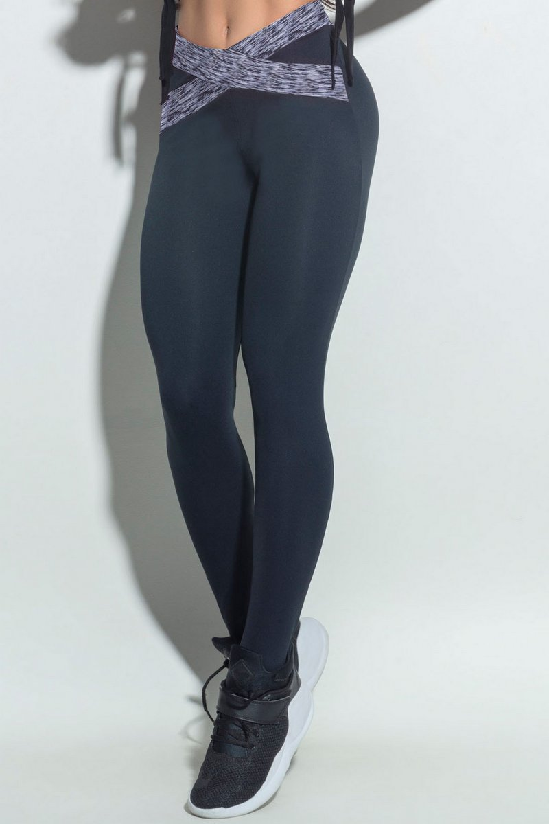 Hipkini Legging Combat Checked Preto Mesclada 3337002