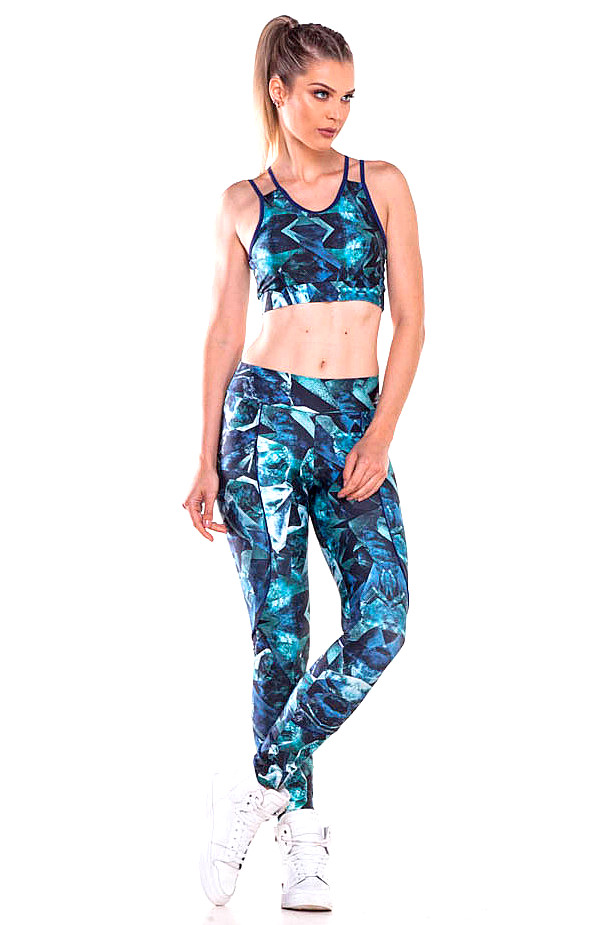 Zero Açucar Calça Legging Colorful 140174