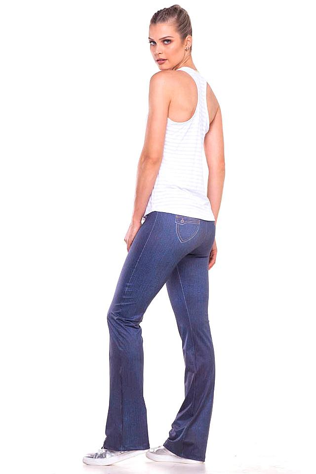 Zero Açucar Calça Flare Jeans 140180