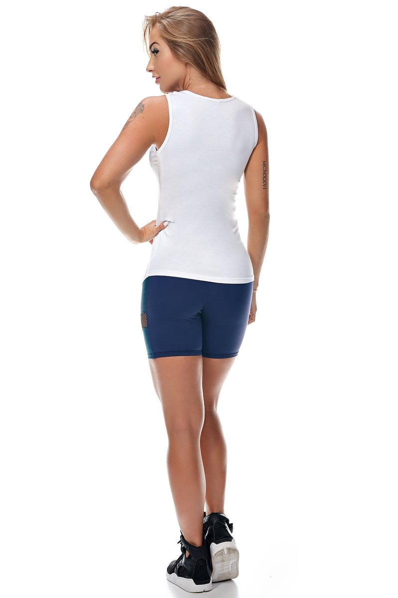 Lets Gym Shorts Lets Cross Azul S731A