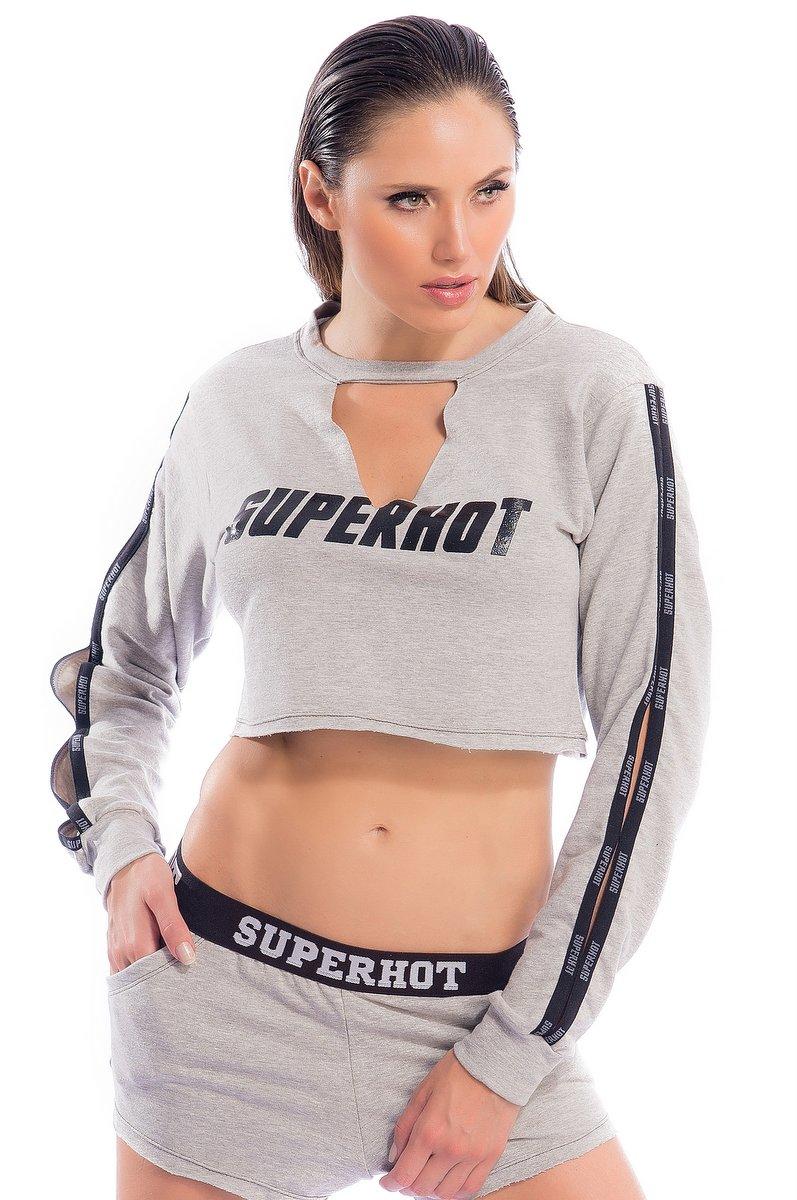 Superhot Blusa Superhot Grey BL1685