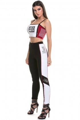 Calça Skinny Labellamafia  - Labellamafia MCL14770 Fit You Fashion Fitness