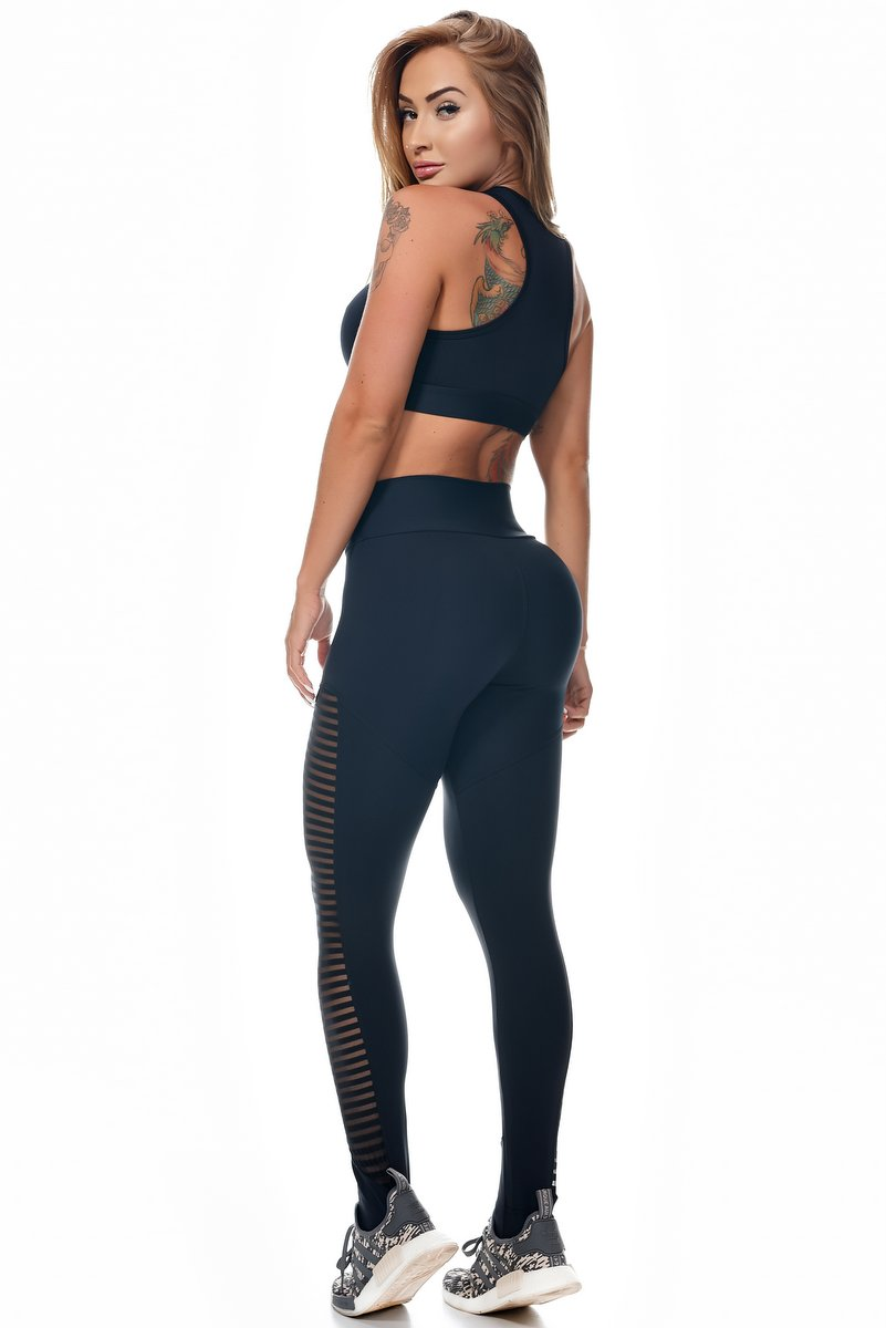 Lets Gym Calça Legging Emana Strappy Preta L707B