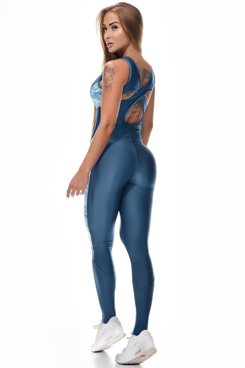 Lets Gym Macacão Essence Azul M721B