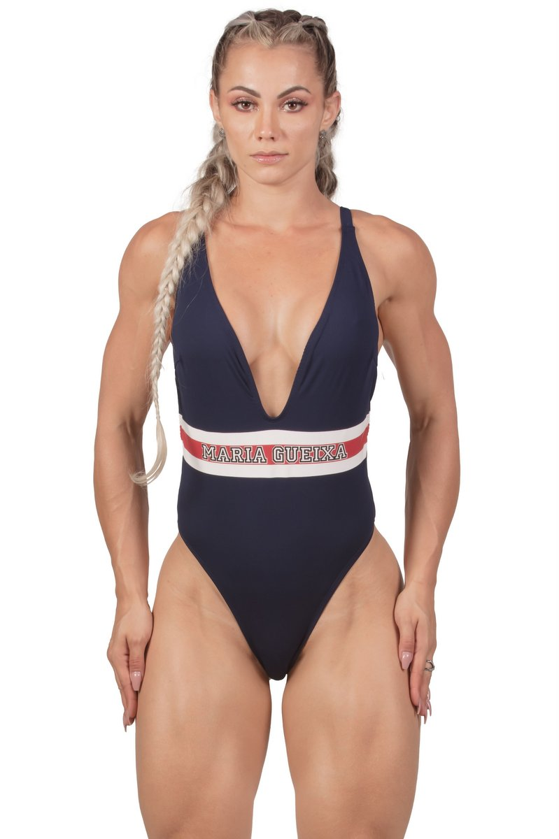Maria Gueixa Body Maio Decote Ultra Summer Marinho 005434C