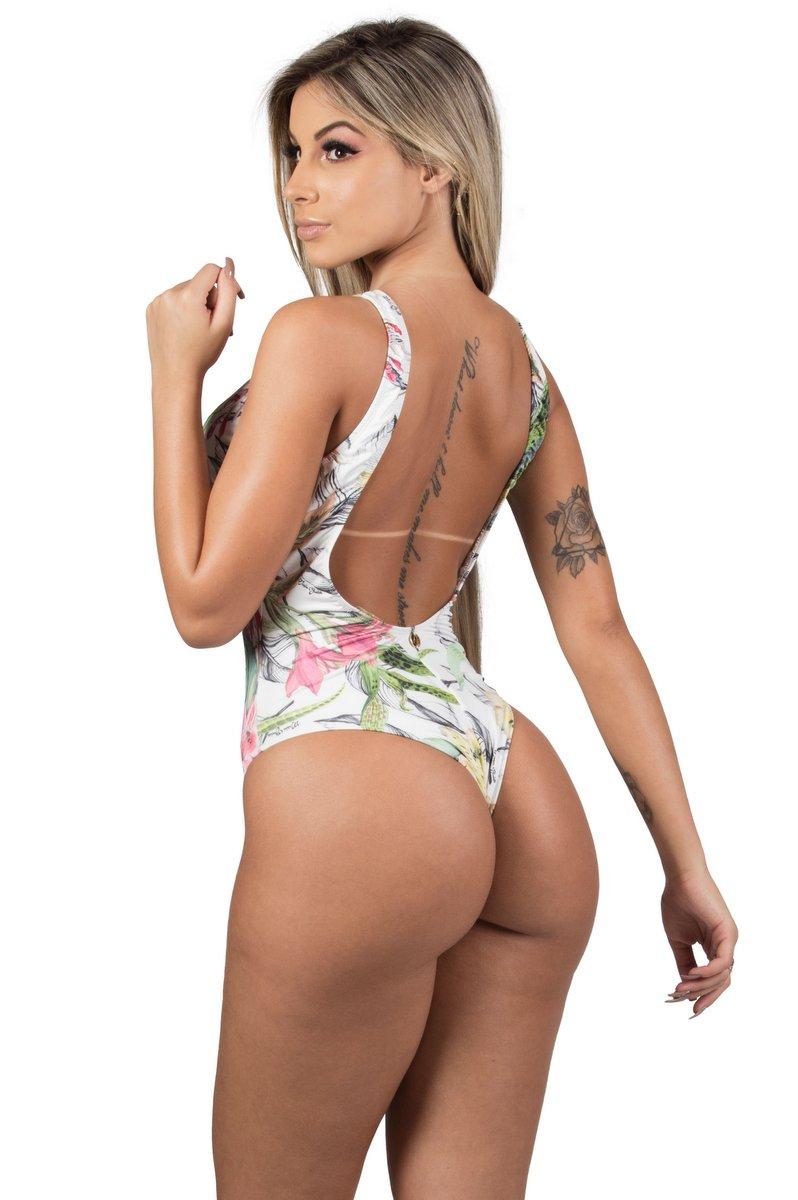 Maria Gueixa Body Maio Maxi Decote Tropical 005500