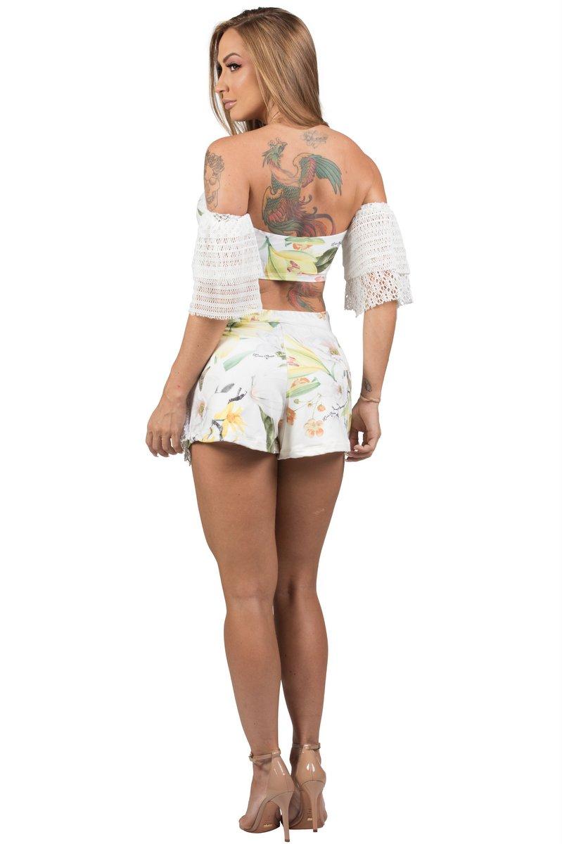 Maria Gueixa Conjunto Shorts Saia e Top 005543