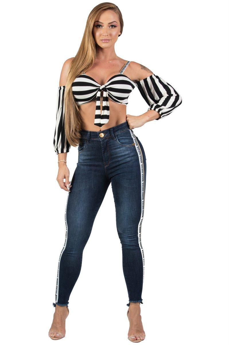 Maria Gueixa Calça Jeans Skinny Faixa Maria Gueixa 005533