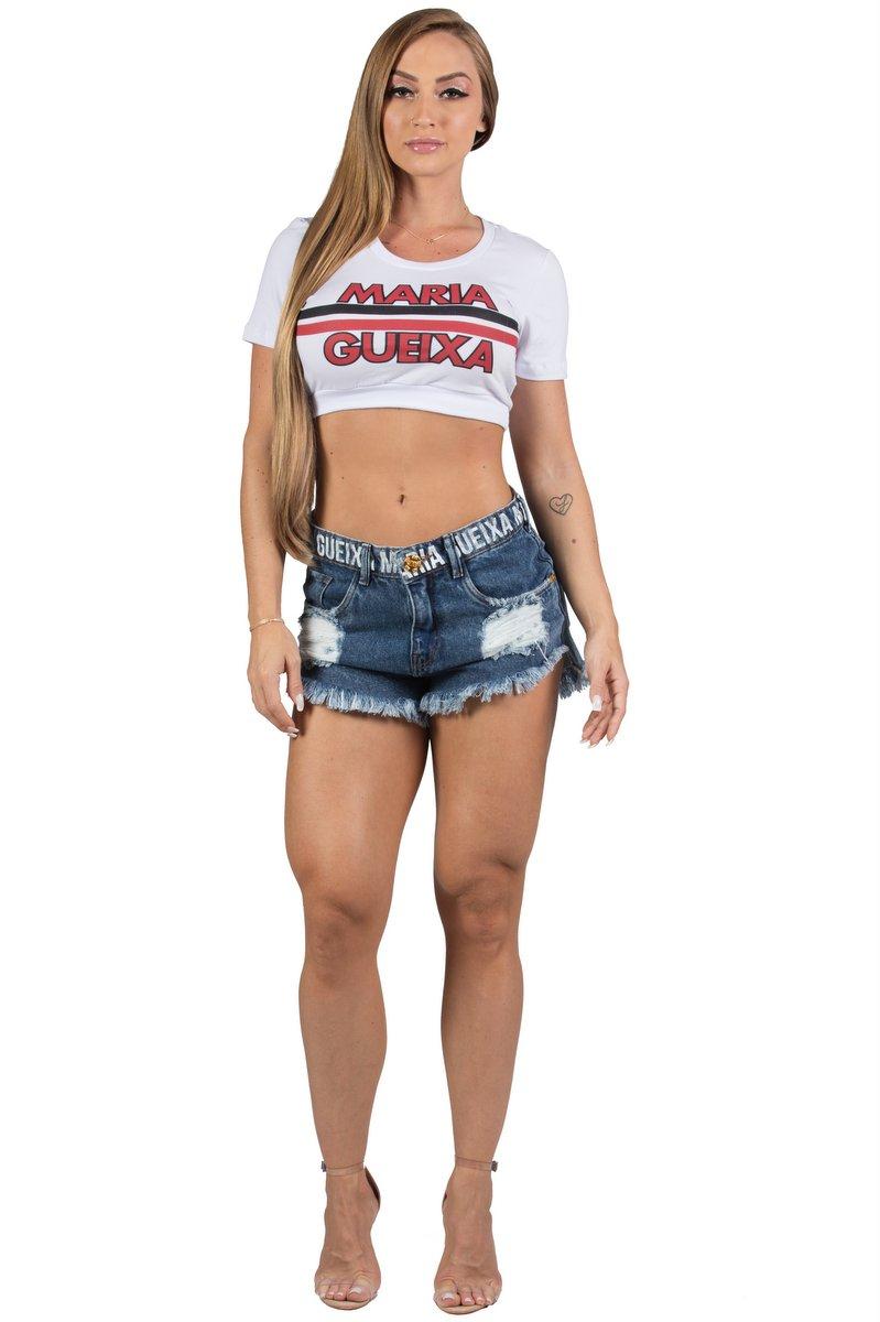 Maria Gueixa Shorts Jeans Cós Logo Maria Gueixa 005524