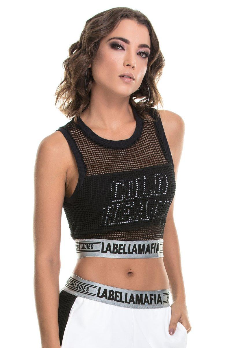 Labellamafia Blusa Cropped Labellamafia MBL14774