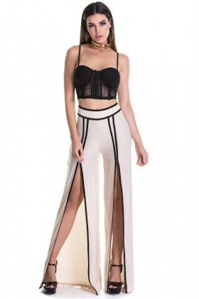 Calça Pantalona Labellamafia  - Labellamafia MCL14787 Fit You Fashion Fitness