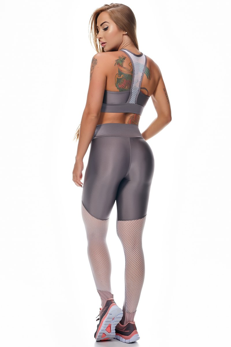 Lets Gym Calça Legging Empower Ametista L716B