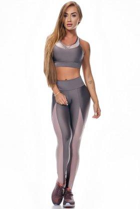 Calça Legging Empower Ametista - Lets Gym L716B Fit You Fashion Fitness