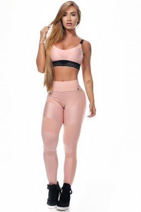 Calça Legging Energy Push Up Rosê - Lets Gym L727B Fit You Fashion Fitness