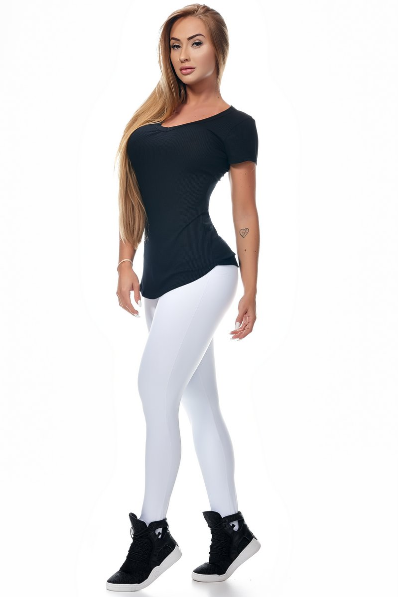 Lets Gym Calça Legging Emana Push Up Branca L571D