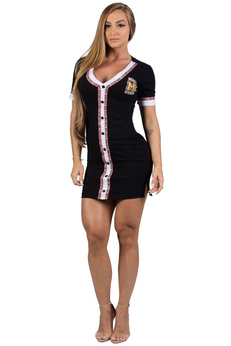 Maria Gueixa Vestido Curto American Sports Preto 005452A