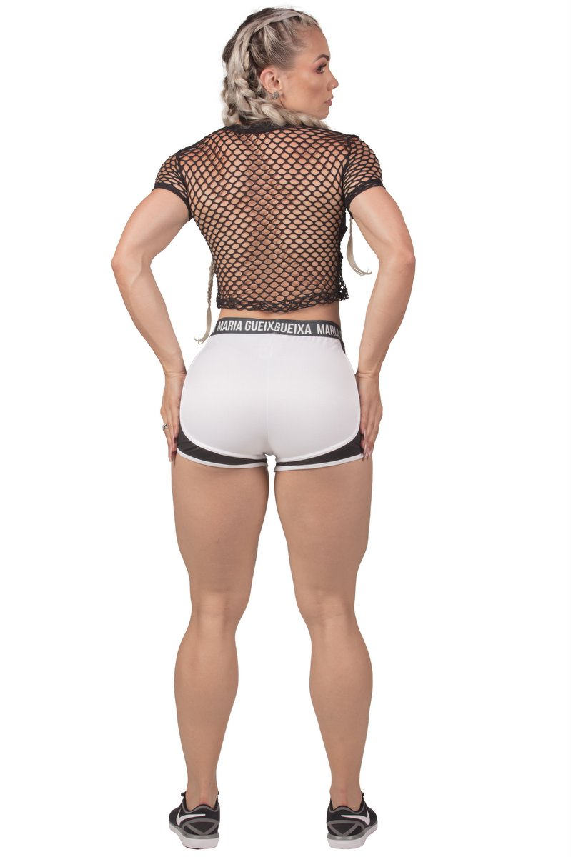 Maria Gueixa Shorts Running Branco 005596