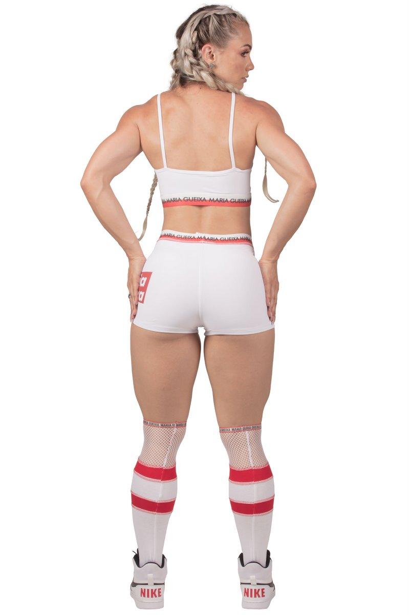 Maria Gueixa Shorts Workout Branco 005639