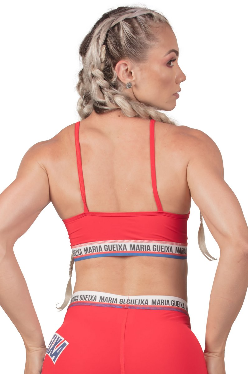 Maria Gueixa Top Athletic Vermelho  005640