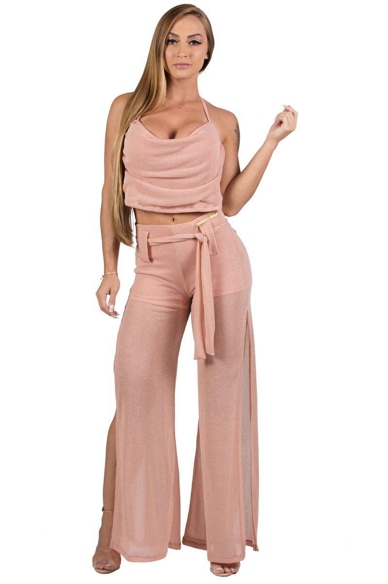Maria Gueixa Lurex Set Shirt and Pant 005682A