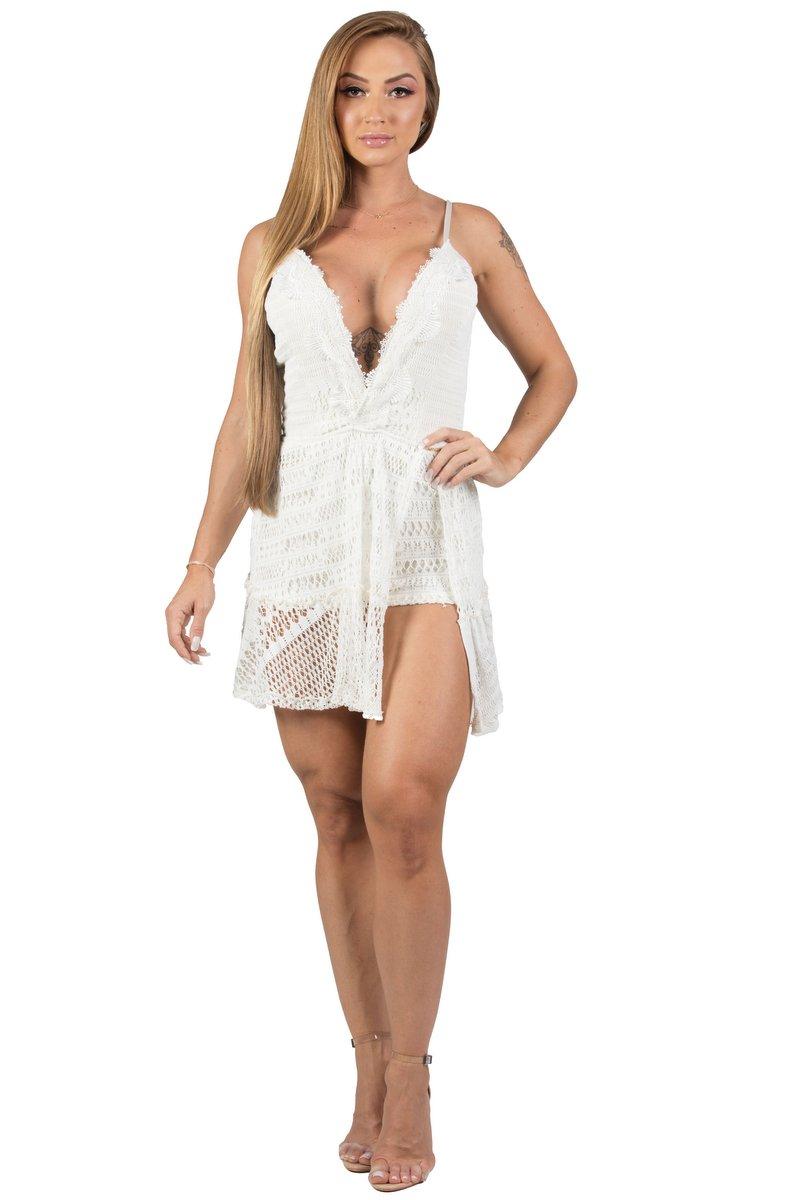 Maria Gueixa Vestido Curto Sensation Off White 005611