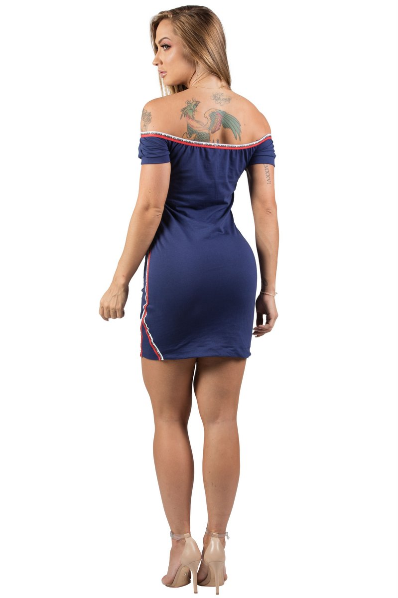 Maria Gueixa Vestido Long Shirt Marinho 005443B